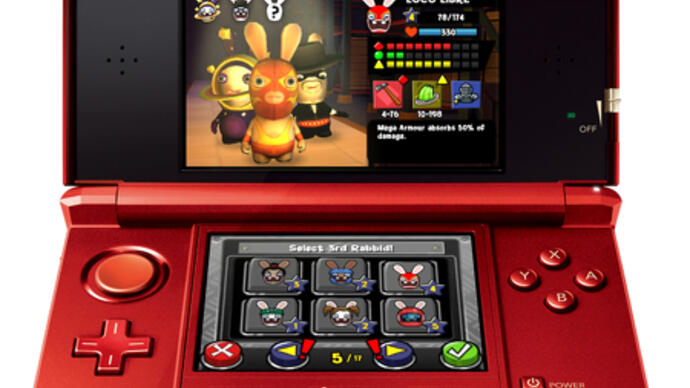 Rabbids Rumble announced for3DS