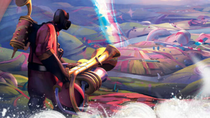 Wonderful Team Fortress 2 Pyromania patch brings rainbows, flowers, musical death-instruments