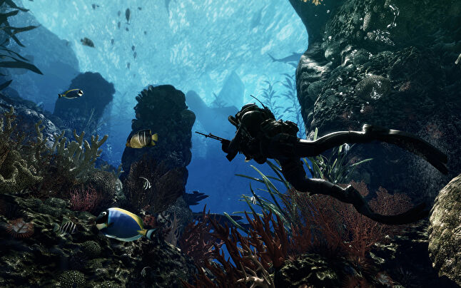 An underwater mission in Call of Duty: Ghosts