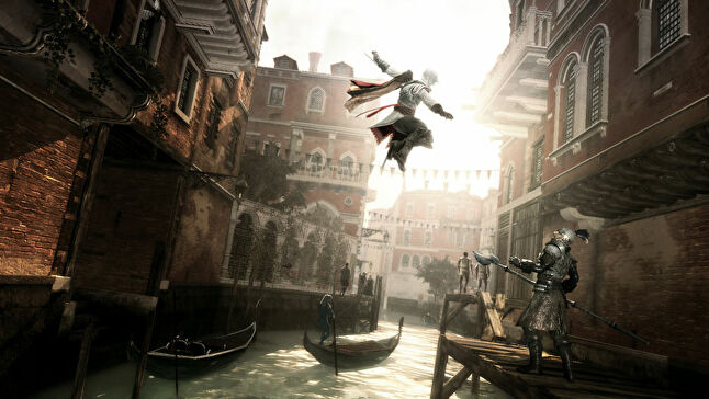 Desilets says Assassins Creed under Ubisoft is less about the enjoyment of your surroundings and more about combat and killing