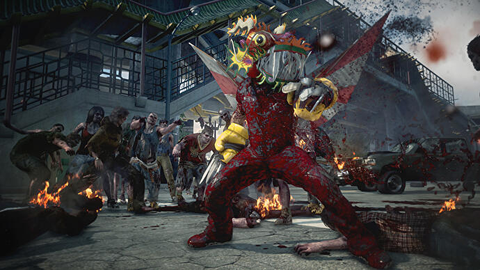 Dead rising 3 review eurogamer we werent able to try it pre launch but dead rising 3 has drop in co op any blueprints or frank statues you find in another players game are saved in malvernweather Choice Image
