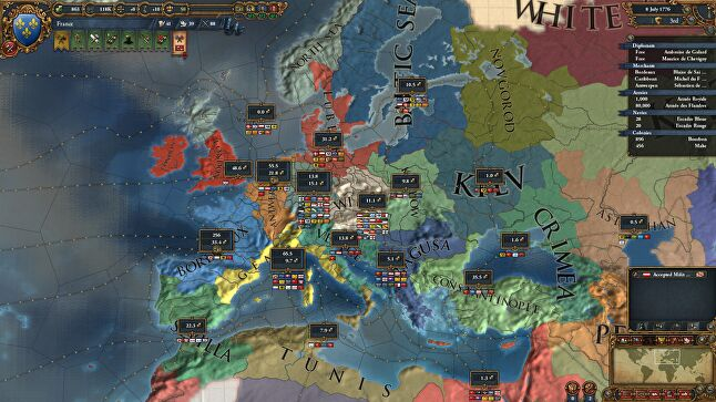 Europa Universalis IV is Paradox's fastest selling title, and its highest Metacritic rating, at 87 per cent.