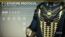 Starfire Protocol exotic chest armour.