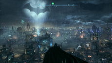 At five times the size of Arkham City, PS4 is still able to render Gotham City's searchlights and skyscrapers at an astounding range - all at a native 1920x1080.