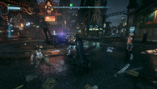 Lighting and reflections go hand-in-hand in Arkham Knight. Gotham's neon signs reflect across rain-drenched streets, giving the game a superb, dark, oil-slicked look.