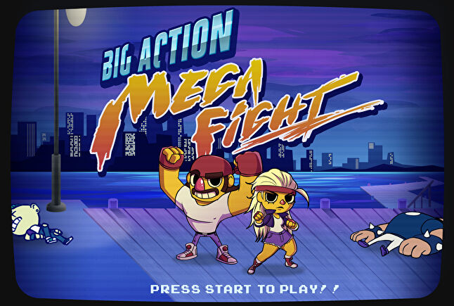 Big Action Mega Fight takes old-school side-scrolling fighting games and amps up the ridiculous.