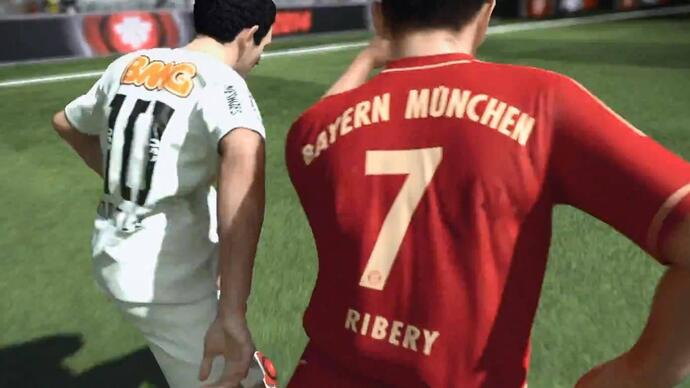 PES 2014 - Gameplay Santos vs Bayern