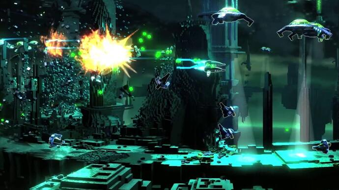 Housemarque announces side-scrolling smhup Resogun forPS4