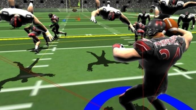 This is what controversial Ouya exclusive Gridiron Thunder looks like