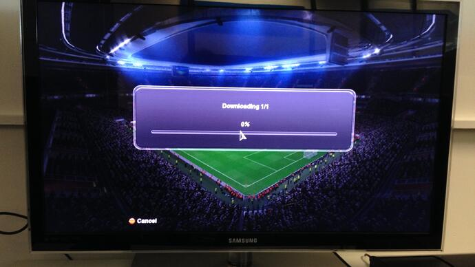 PES 2014 having online update problems