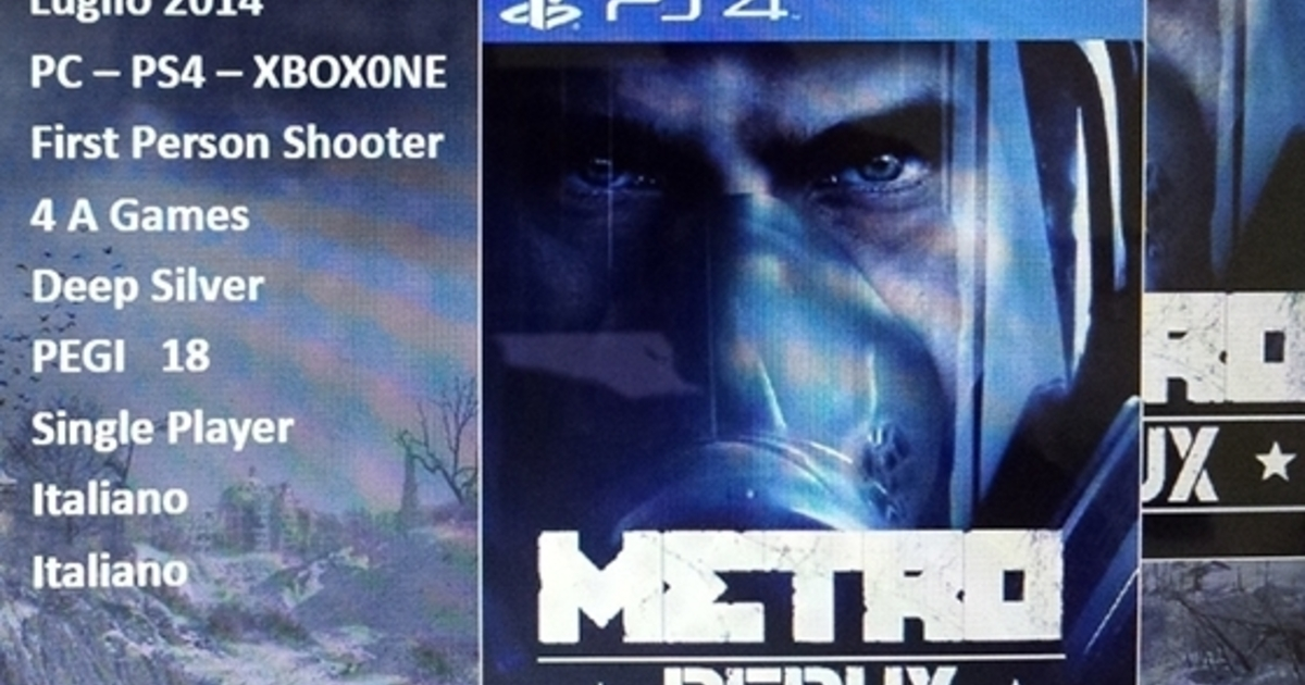 Looks like the Metro games are coming to PS4 and Xbox One