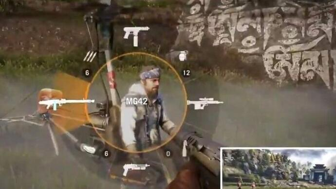 Far Cry 4 gameplay footage shows co-op, grapple hook,kicking
