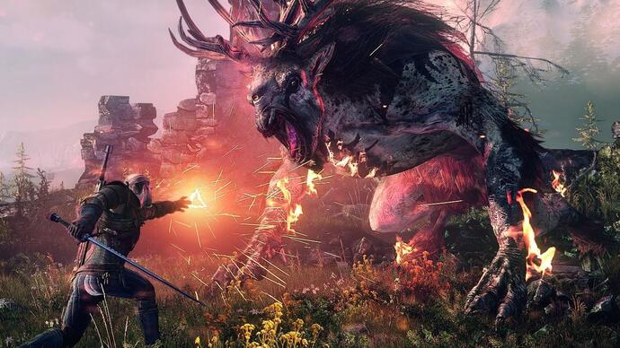 Here's a 35 minute The Witcher 3 gameplay video