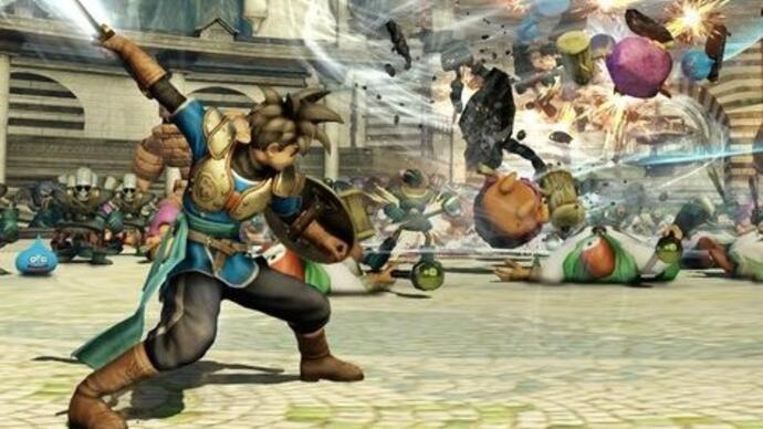 First Dragon Quest Heroes gameplay shows Dynasty Warriors influence