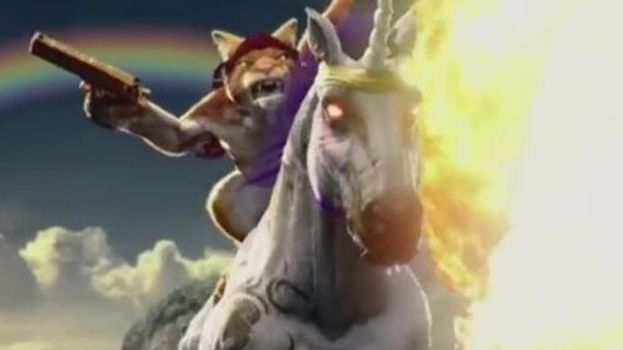 Trials Fusion expansion stars a cat riding a fire-breathingunicorn