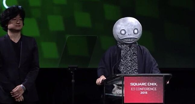 Square Enix wants its developers to have their own personalities, as Yoko Taro's appearance at E3 2015 shows.