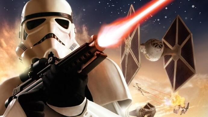 Gameplay of canned Star Wars Battlefront 3 shows impressive ground-to-space tech