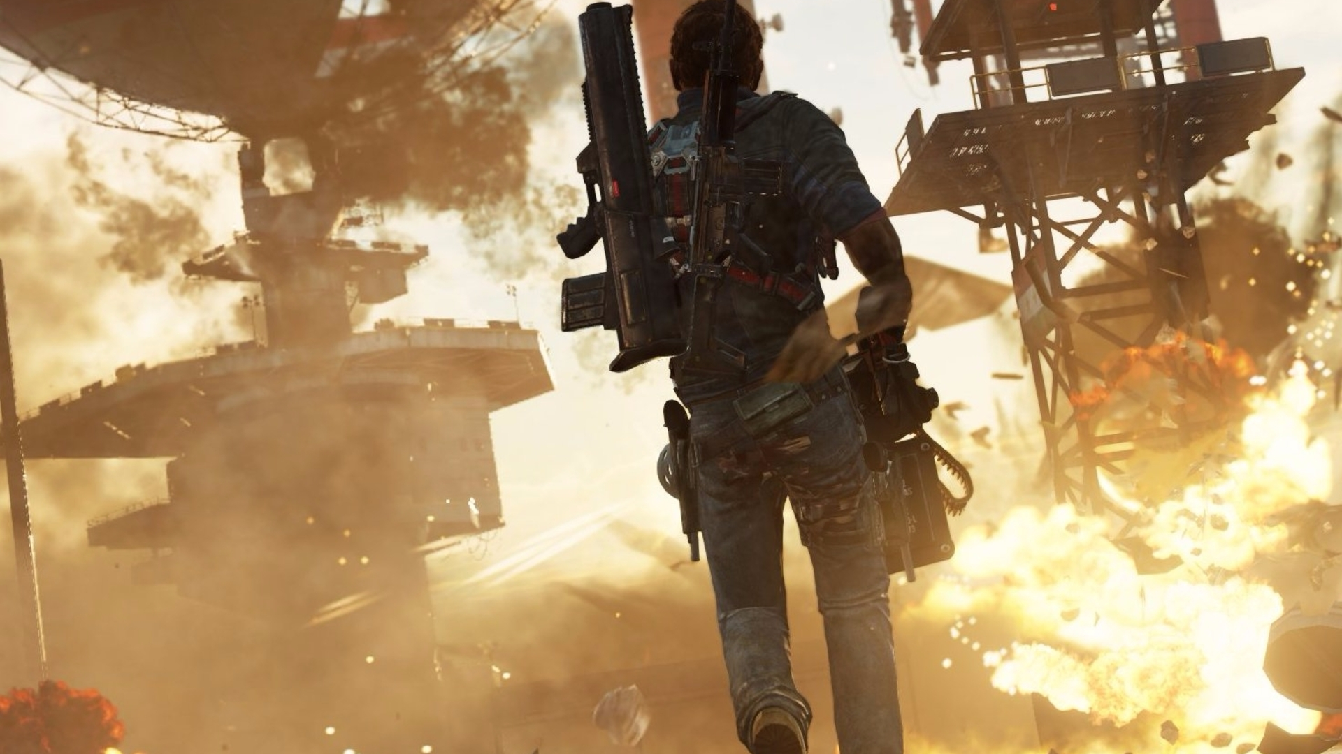 Watch: 'Liberating' a base in Just Cause 3