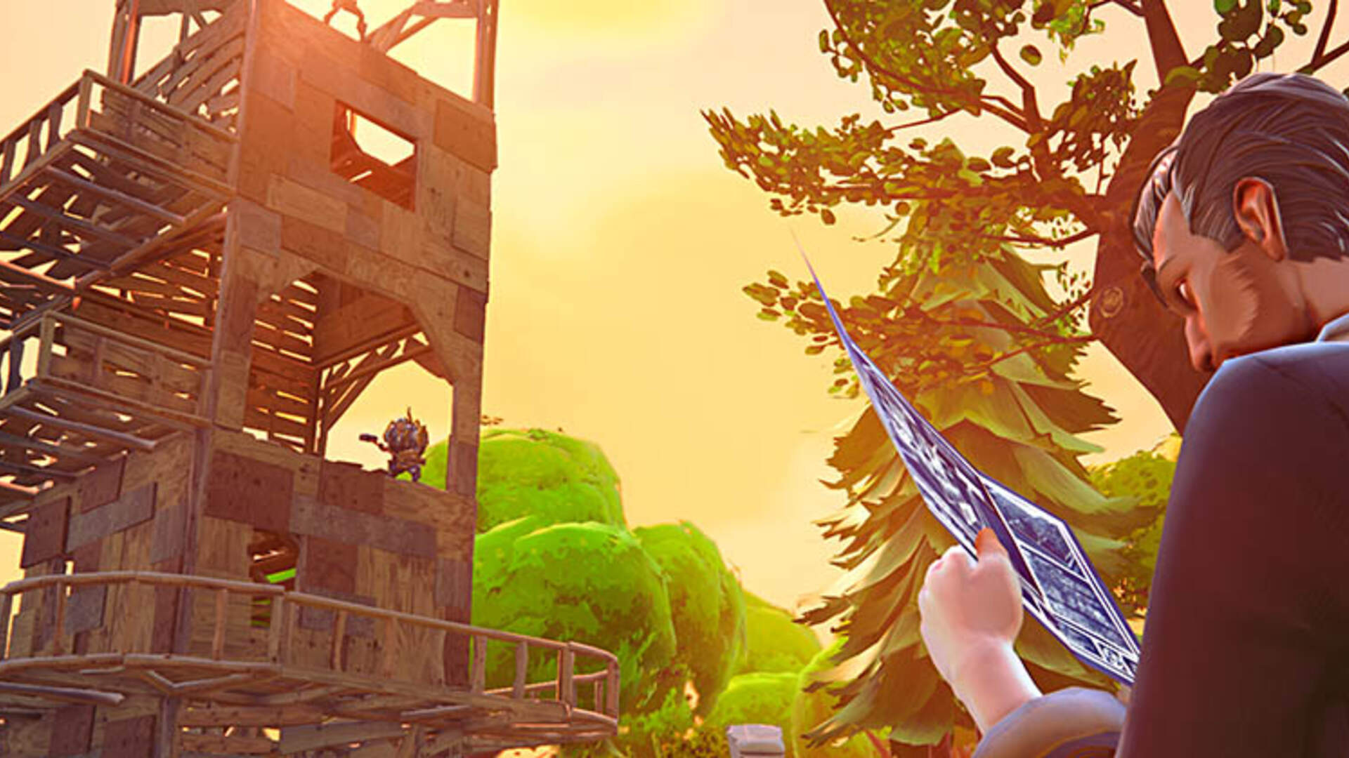Fortnite Search Between a Bear, Crater, and a Refrigerator Shipment -  Week 8 Search Between Challenge Treasure Map Location
