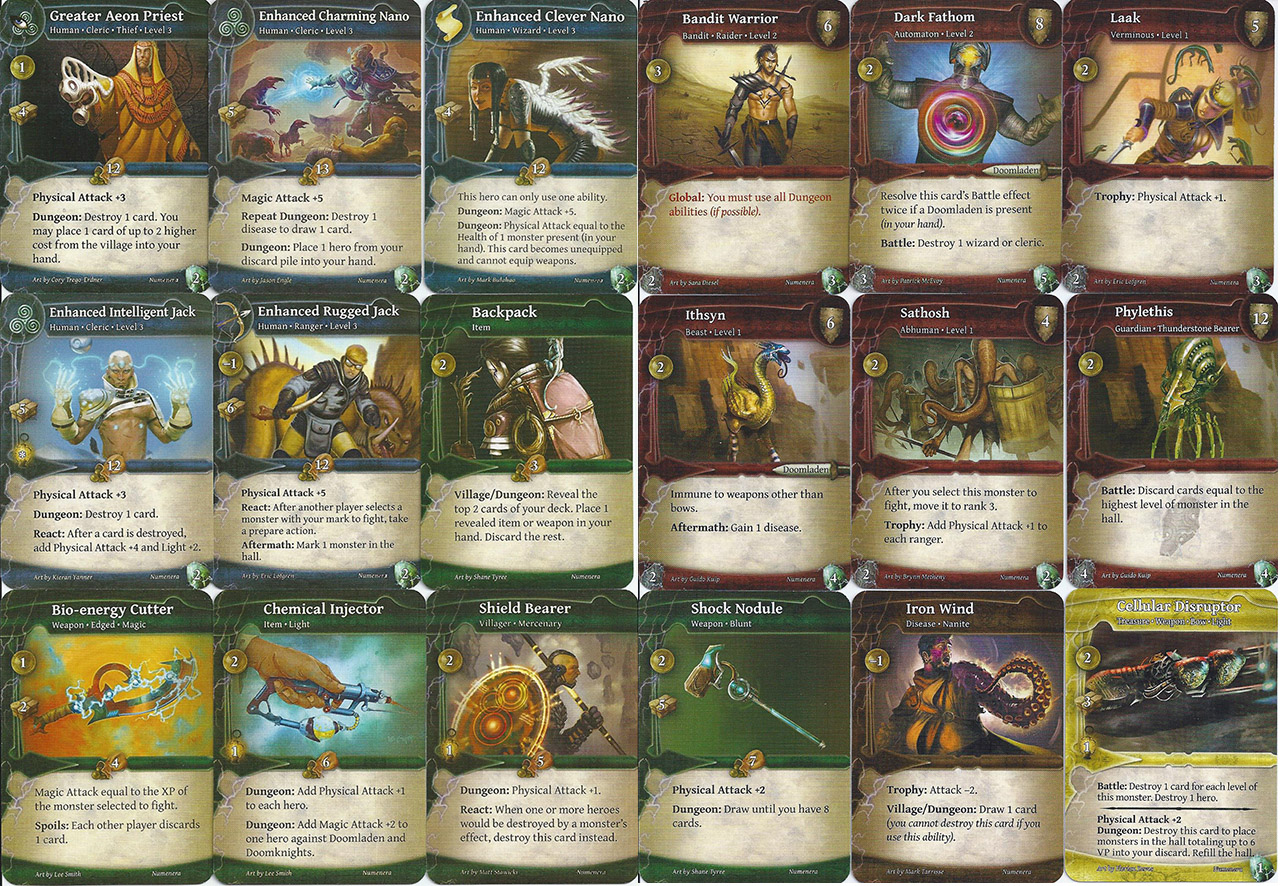 thunderstone advance numenera board game review strong glaive who