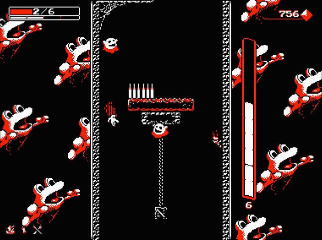 Downwell. Hard, weird and popular.