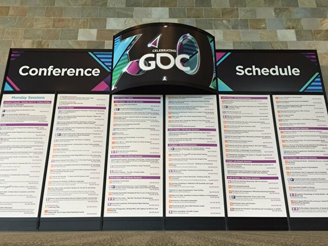 A single day's program. GDC is dense.