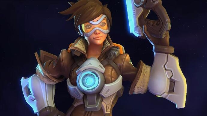 You can play Tracer in Heroes of the Storm before the Overwatch open beta