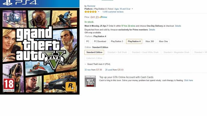 """Amazon marks GTA5, FIFA 16, Minecraft and more as """"exclusively for Primemembers"""""""