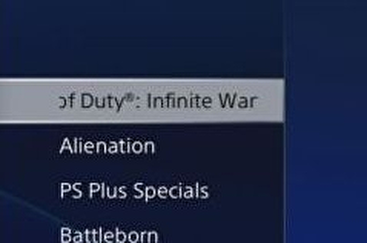 It looks like this year's COD is named Call of Duty: Infinite