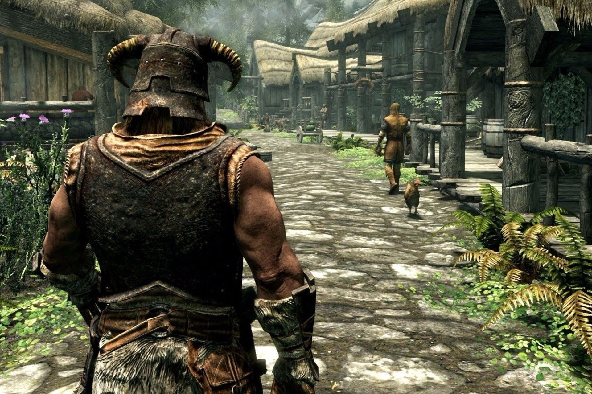 How does the Skyrim remaster compare to the maxed out PC