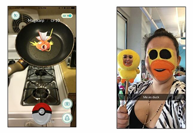 The AR modes in Pokemon Go and Snapchat are both fun add-ons to the core experience