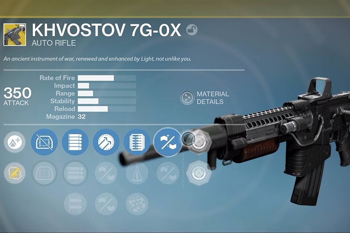 destiny khvostov quest schematic location, 7g ox weapon parts and