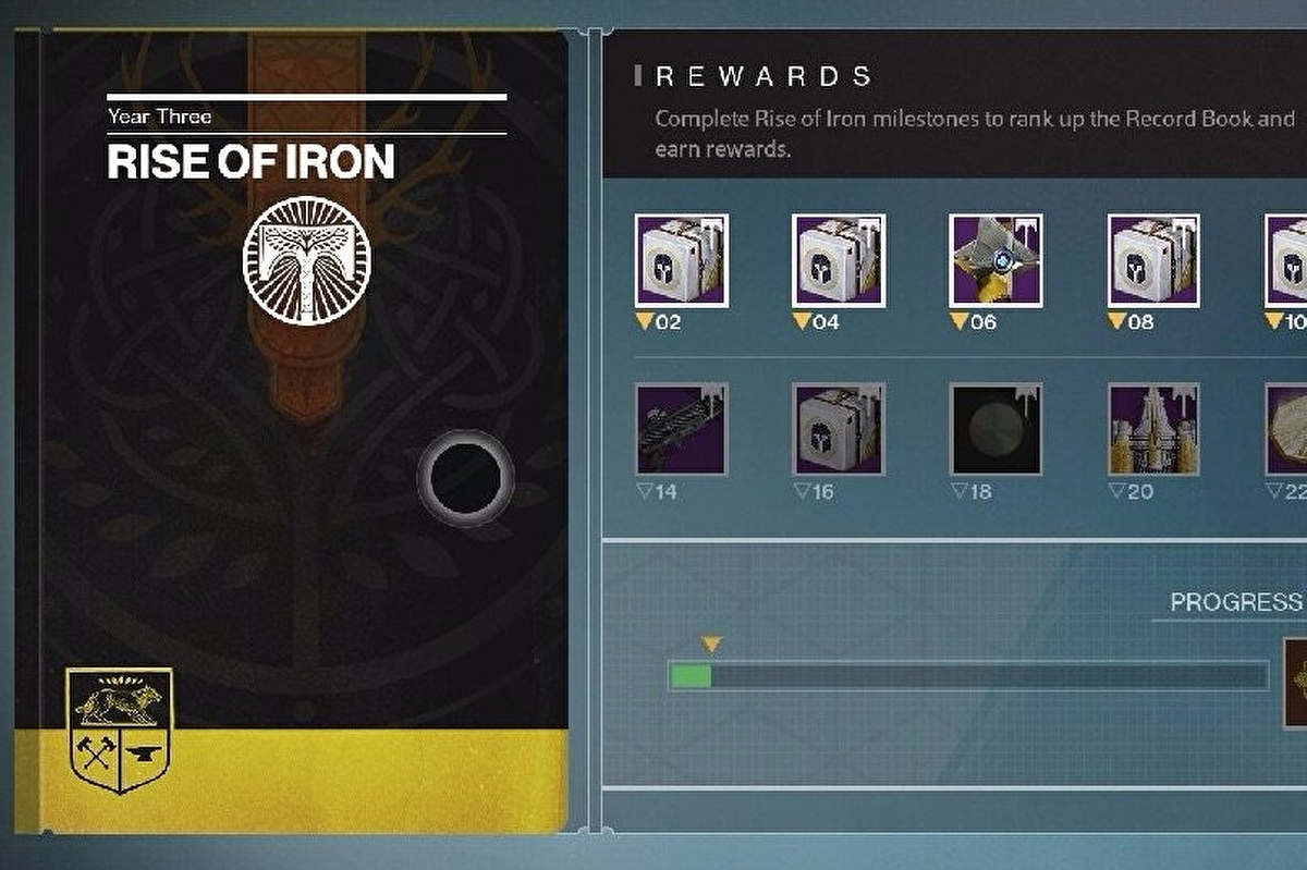 Destiny: Rise of Iron Record Book - Rewards and how to complete A