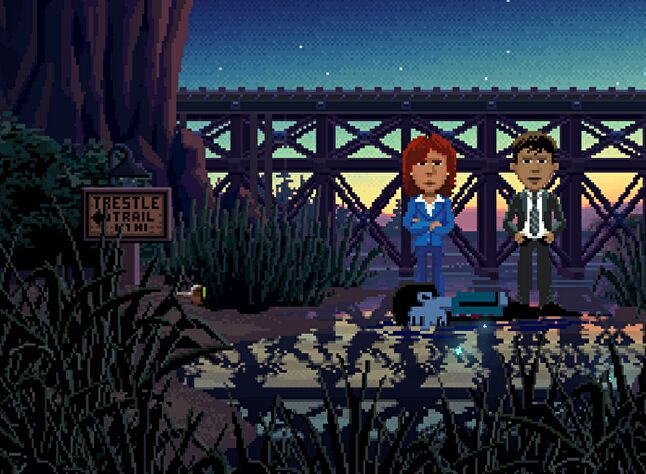 Thimbleweed Park boasts very similar visuals to 1987's Maniac Mansion