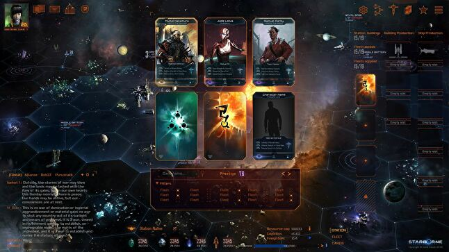 Starborne's mechanics are designed to appeal to multiple audiences: MMORTS and 4X players, collectible card game fans, and traditional board gamers