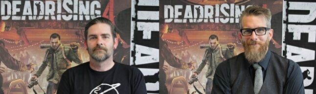 Bryce Cochrane (above) and Joe Nickolls (above right) have faced some fan criticism around Dead Rising 4 over the removal and addition of new features