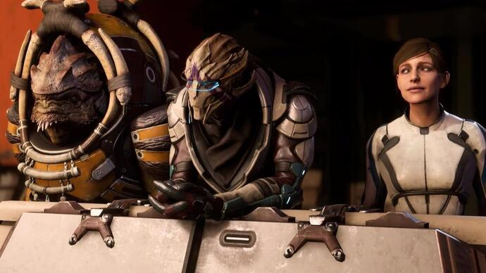 Mass Effect: Andromeda gameplay trailer toont krogan en turian companion