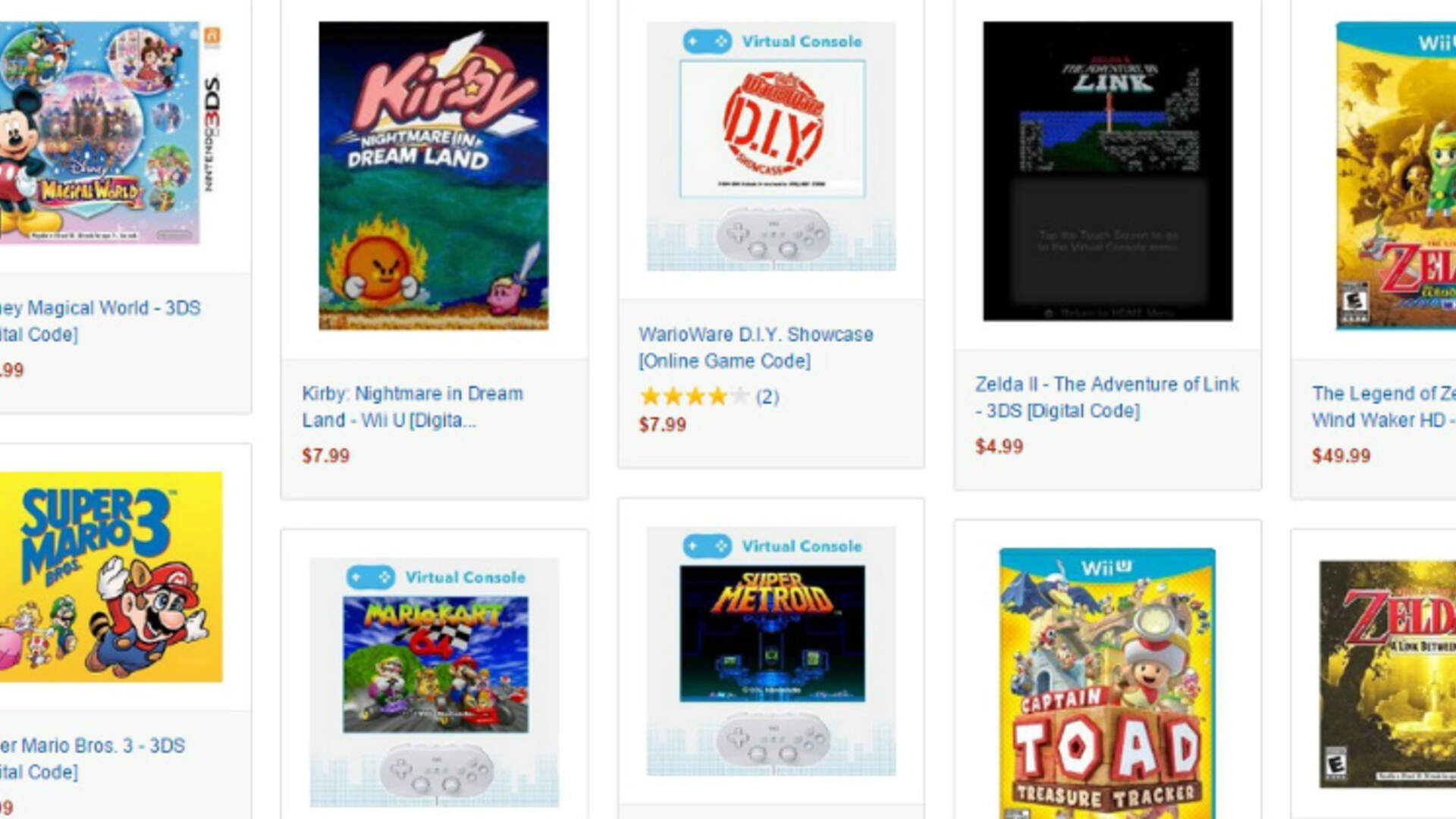 Amazon Adds Nintendo Digital Store