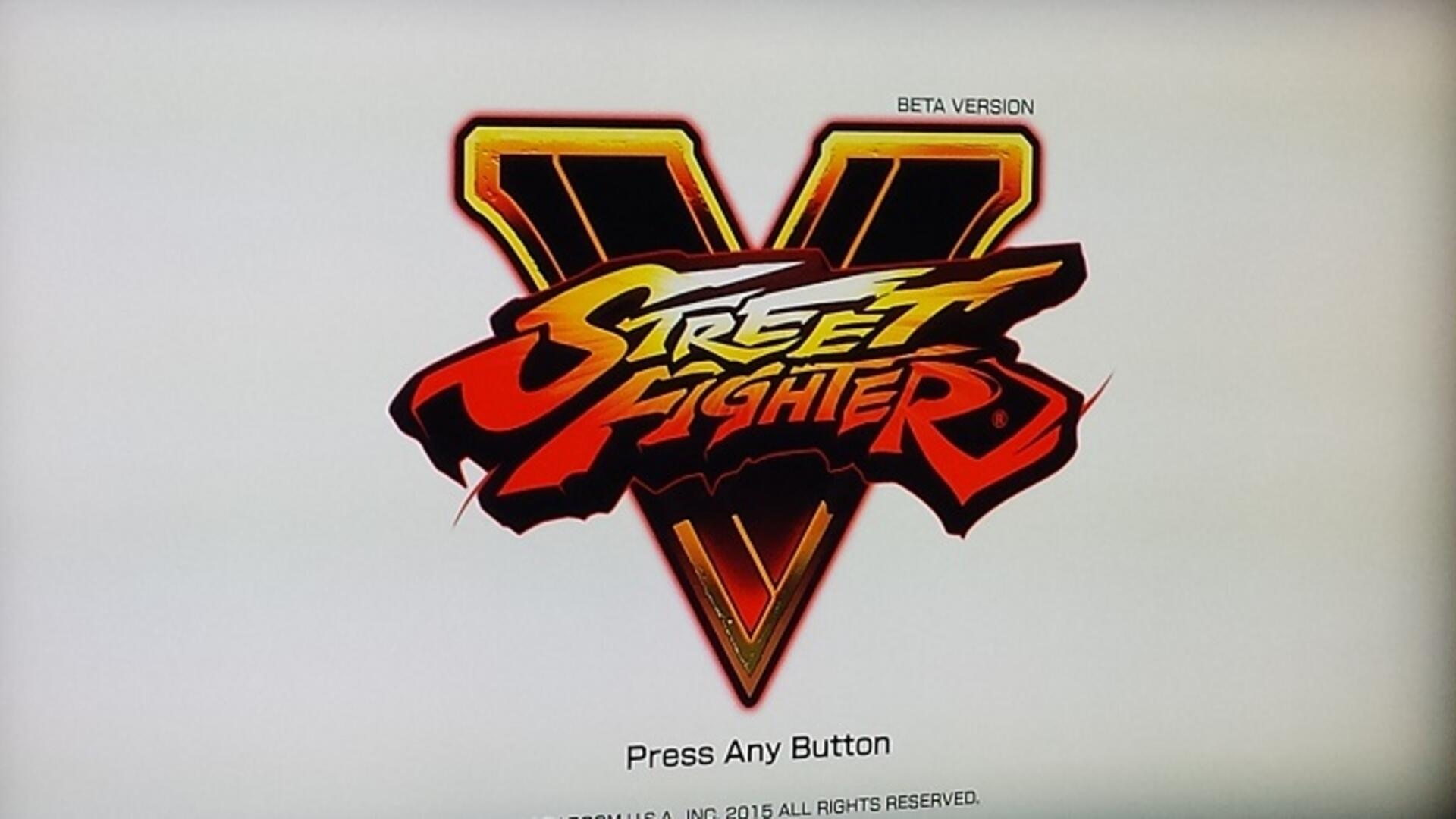 Street Fighter Beta Diary: Day One (And Maybe Only)