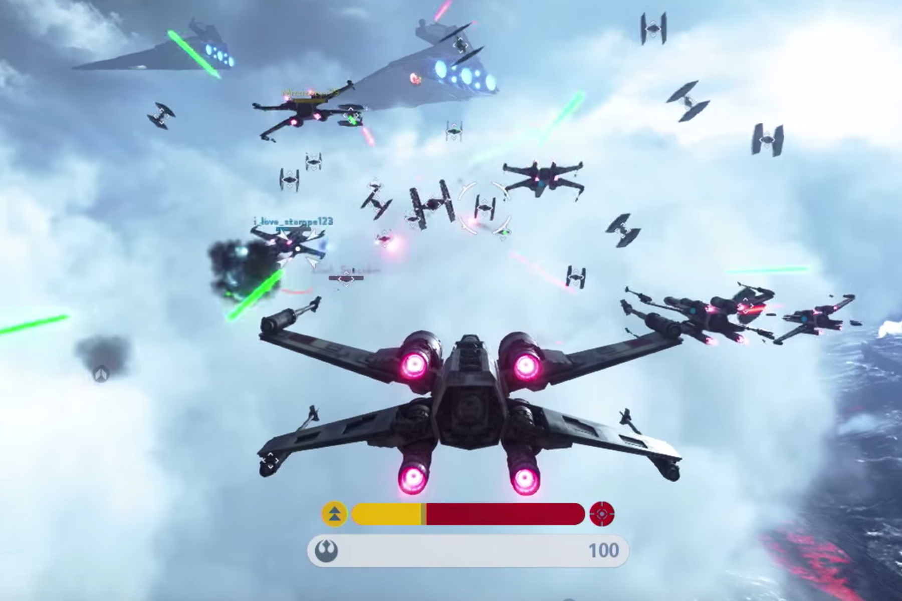 Star Wars Battlefront S Fighter Squadron Mode Is The