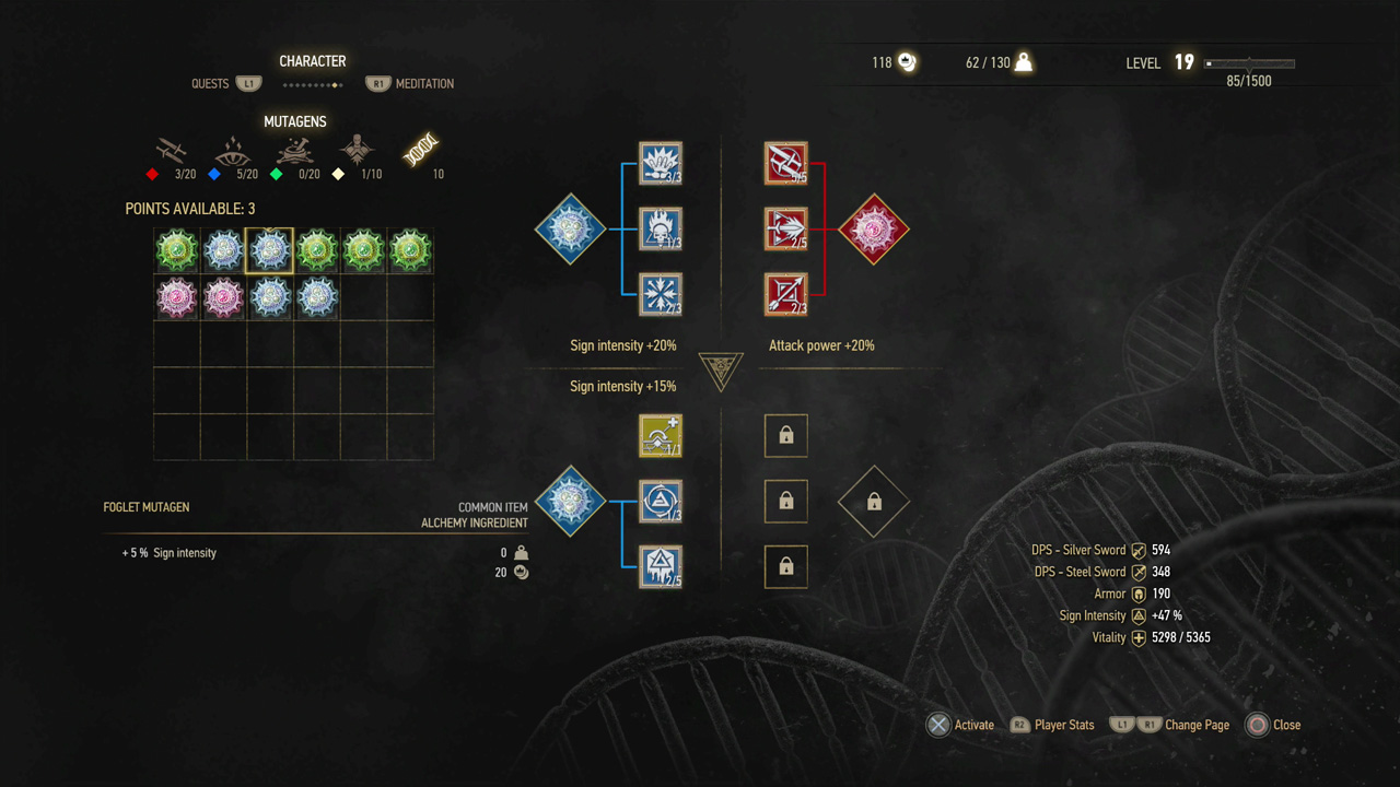 witcher 3 skill slots