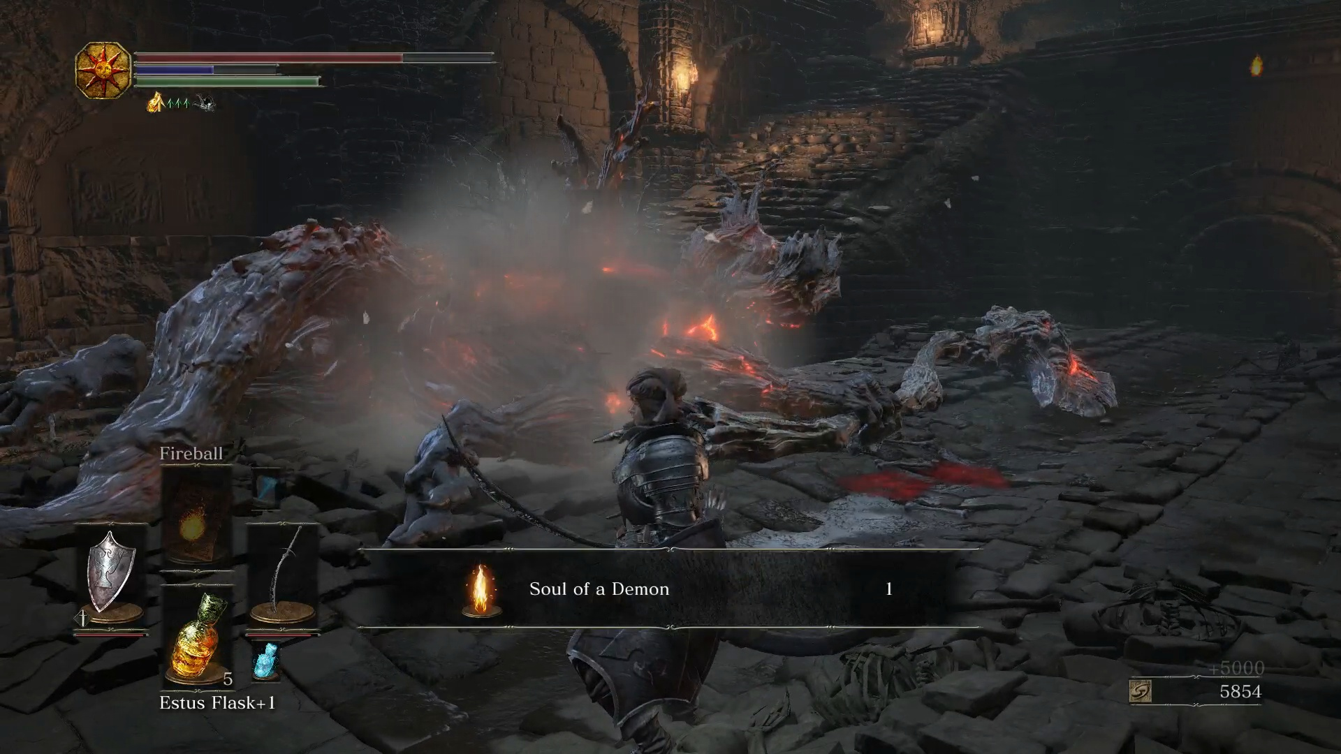 Dark Souls 3: Catacombs of Carthus - Defeat the Fire Demon | USgamer