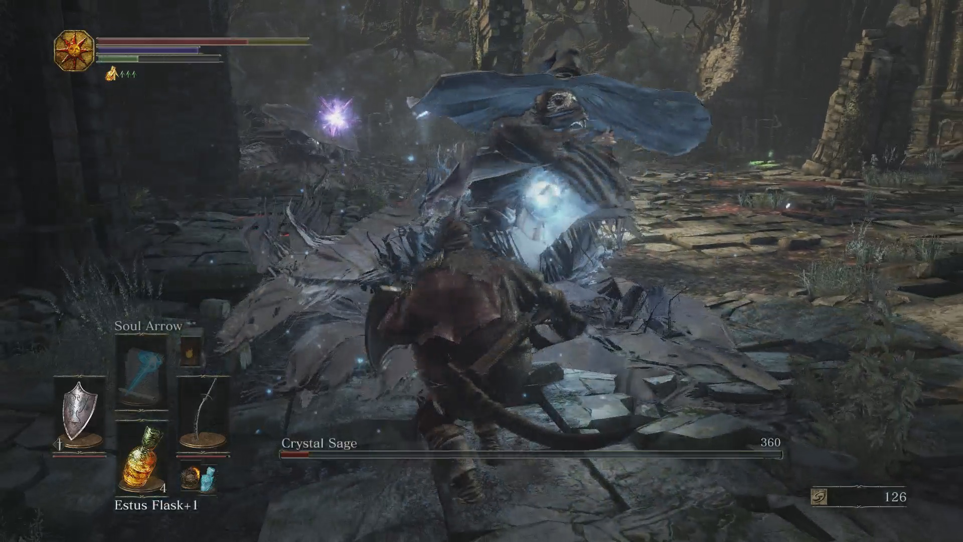 Dark souls 3 road of sacrifices defeat the crystal sage for Crystal fall