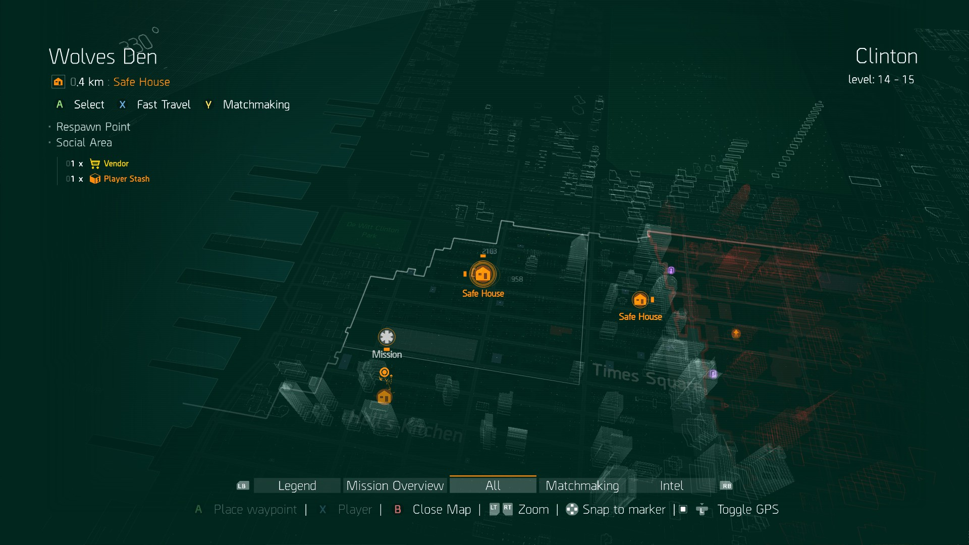 The Division: All Weapon and Gear Vendors, Safe Houses   USgamer