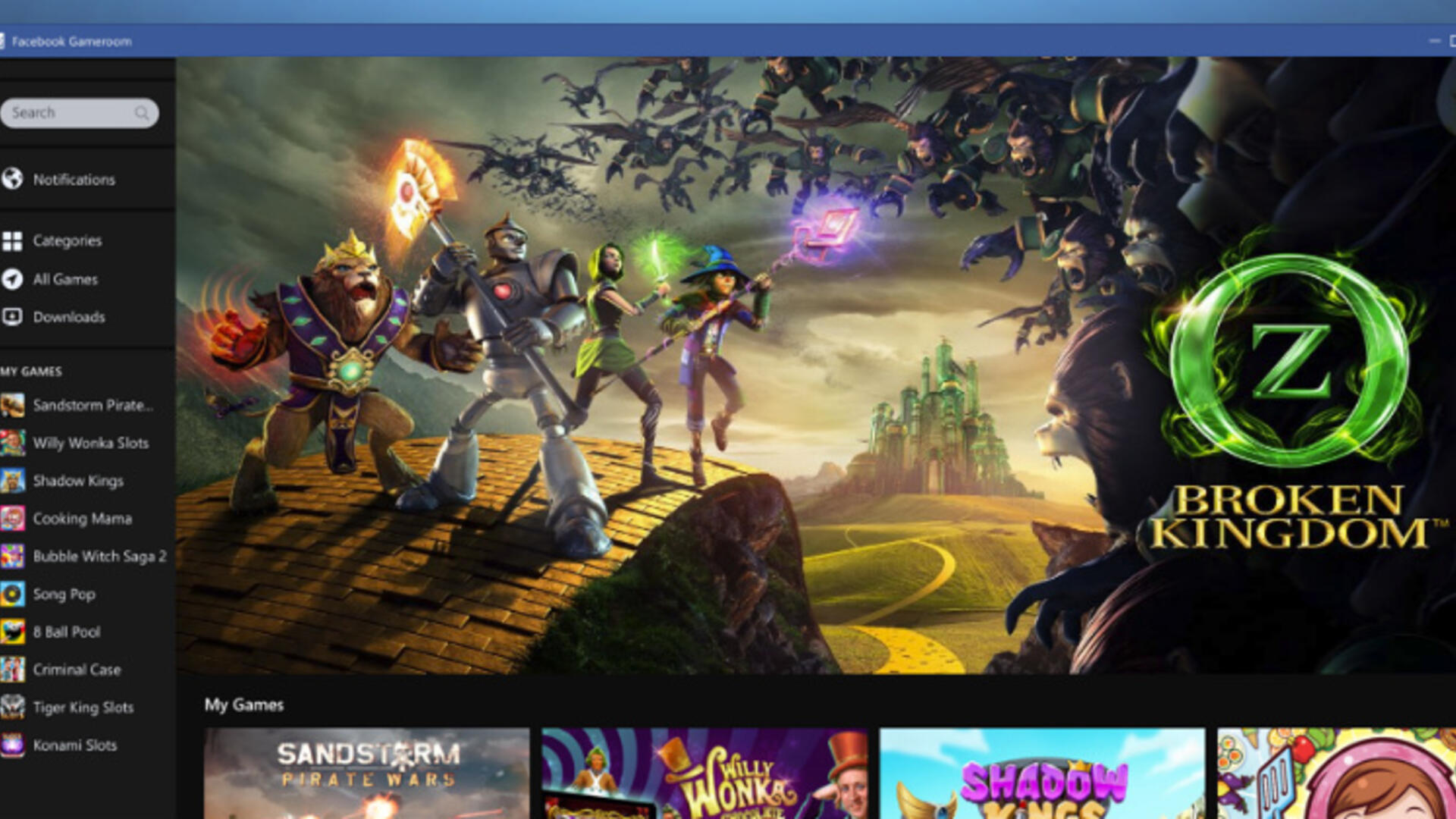 Facebook Aims at Casual PC Players With Gameroom | USgamer