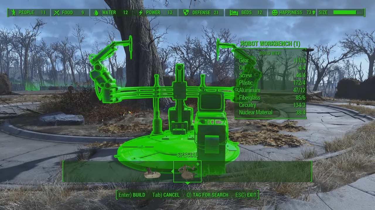 Fallout 4 how to build robots ada curie codsworth for Finding a builder
