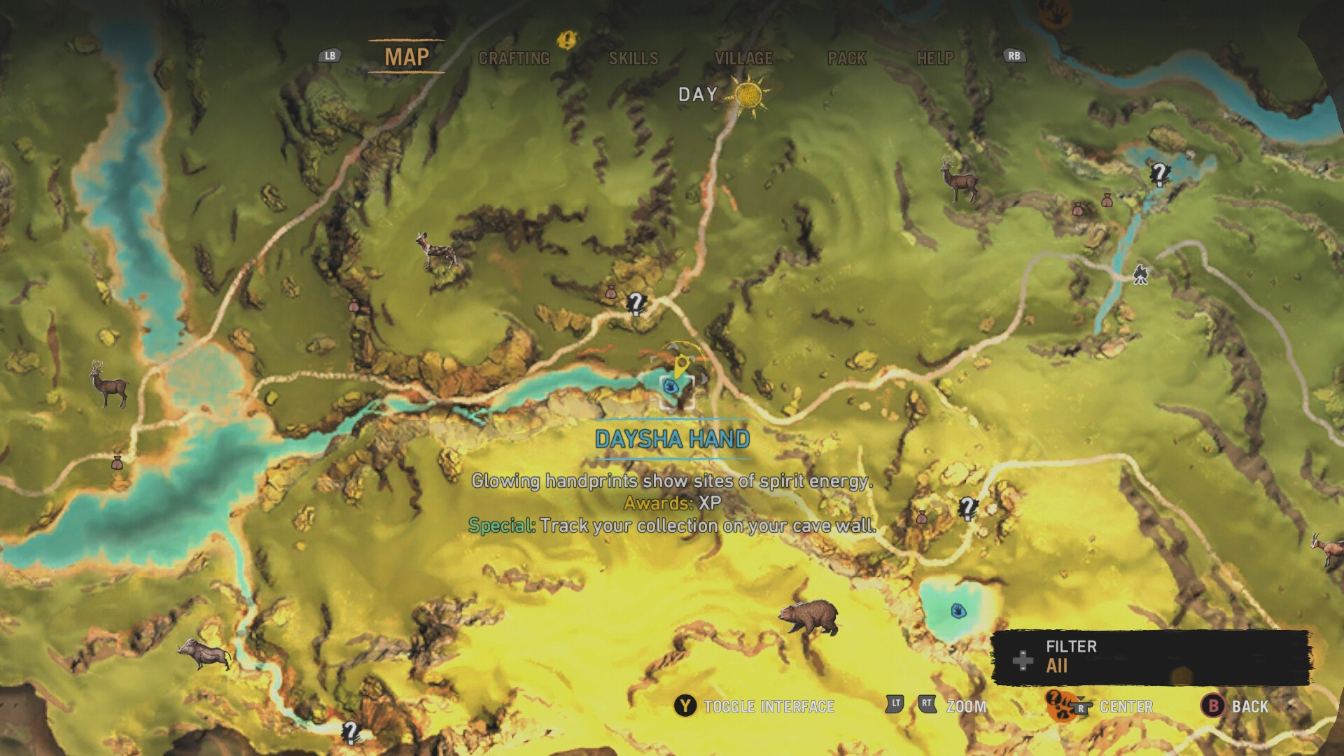 Far cry primal all daysha hand locations usgamer daysha hand 3 this daysha hand is found at the bottom of a pond that contains a crocodile from your village follow the river directly east to a valley gumiabroncs Choice Image