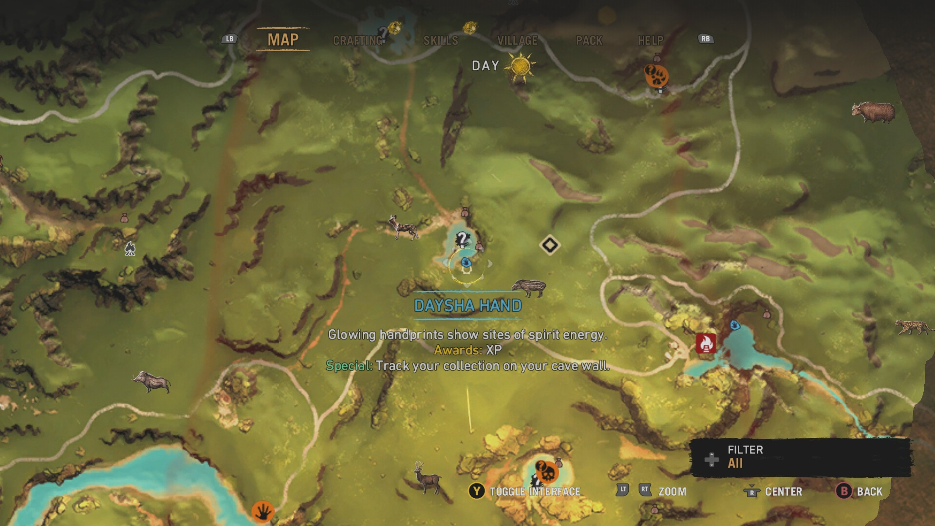 Far cry primal all daysha hand locations usgamer daysha hand 8 this daysha hand is found near a small lake just west of the roaring falls bonfire the daysha hand is atop the rock ledge at the southern gumiabroncs Choice Image