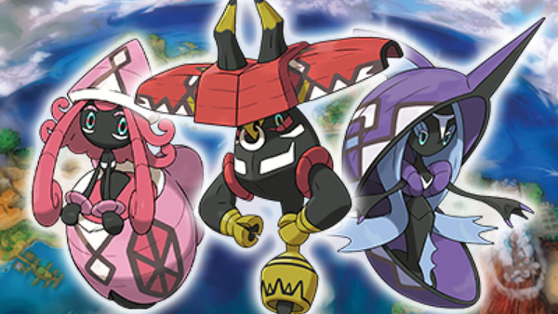 Pokemon Sun and Moon - Where to Get Tapu Koko, Tapu Lele, Tapu Bulu, and Tapu Fini