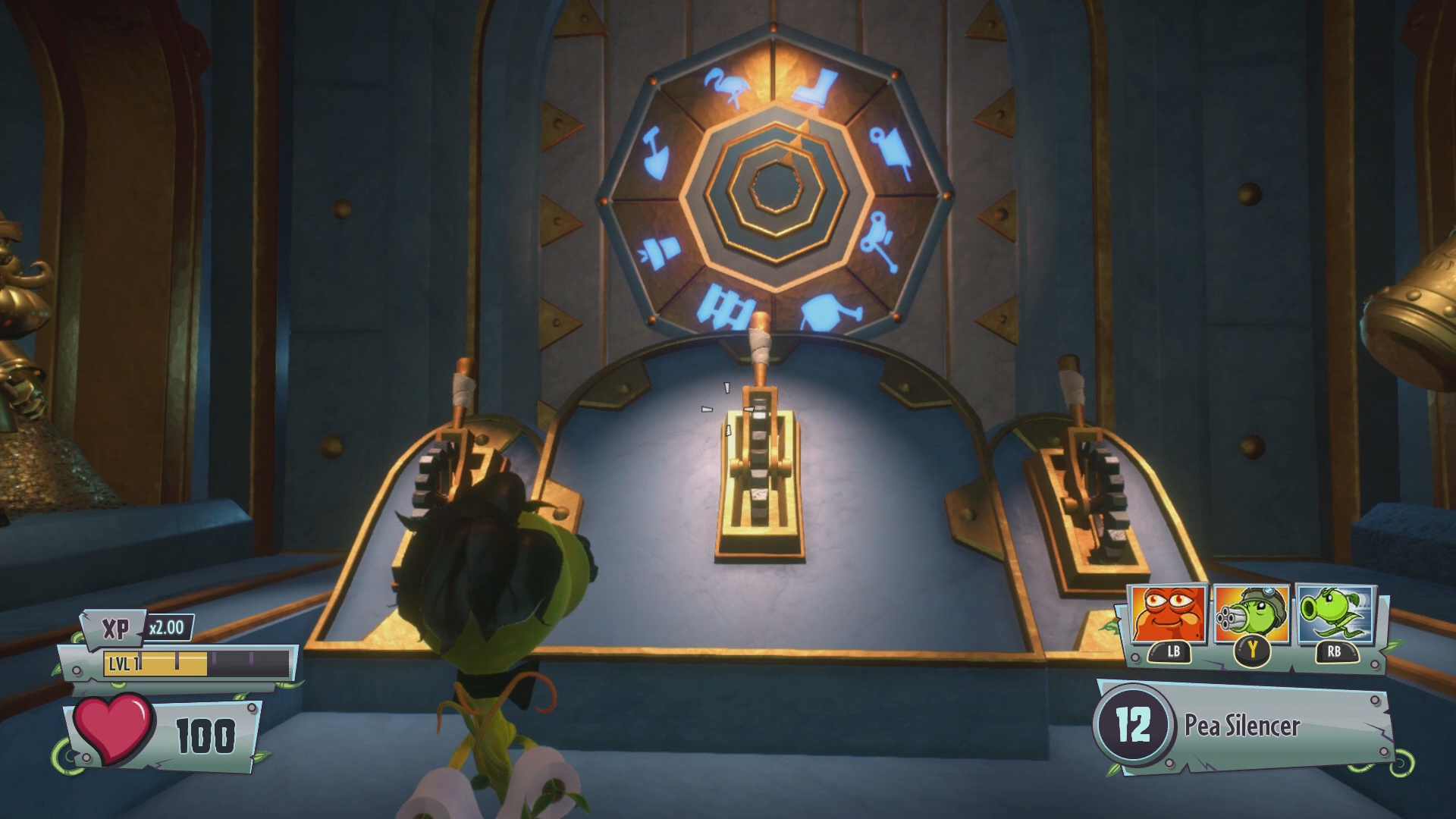 Plants Vs Zombies Garden Warfare 2 Gold Gnome Lever Puzzle Solution Usgamer